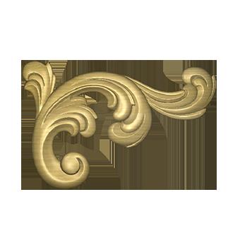 декоративный угол из дерева