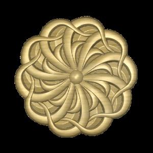 декоративная розетка из дерева