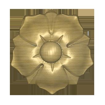 декоративный цветок из дерева