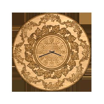 часы из дерева 03